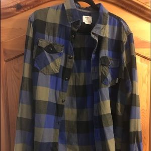 Vans men's flannel shirt size large